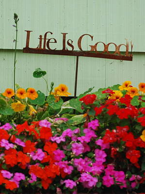 Life Is Good Poster by Mamie Gunning
