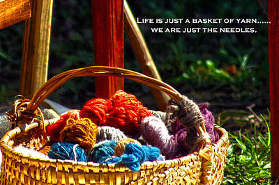 Poster featuring the photograph Life Is Just A Basket Of Yarn by Lesa Fine