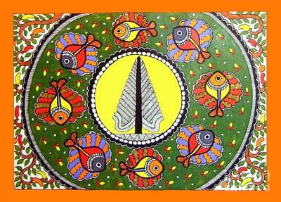 Life Of Tree-madhubani Painting Poster