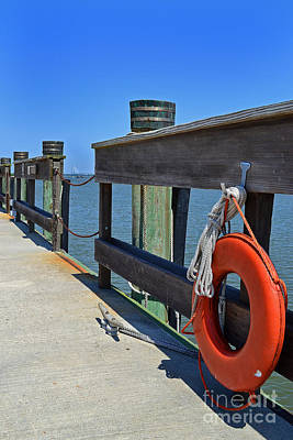 Life Preserver Charleston Pier Poster by Amy Lucid