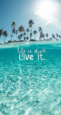 Life Quote Cover Poster by Shop Caribbean
