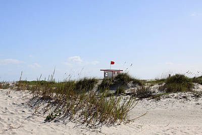 Poster featuring the photograph Lifeguard Station by Chris Thomas