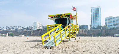 Lifeguard Station On The Beach, Santa Poster by Panoramic Images