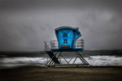 Lifeguard Tower Series - 12 Poster by James David Phenicie