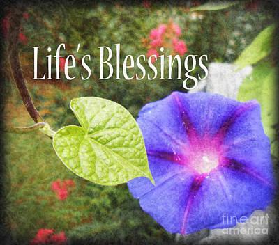 Lifes Blessings Poster by Eva Thomas