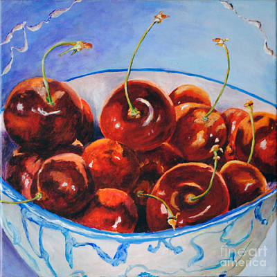 Life's S Bowl Of Cherries Poster by Toelle Hovan