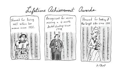 Lifetime Achievement Awards Poster by Roz Chast