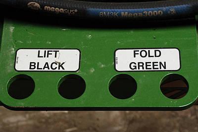 Lift Black Fold Green Poster