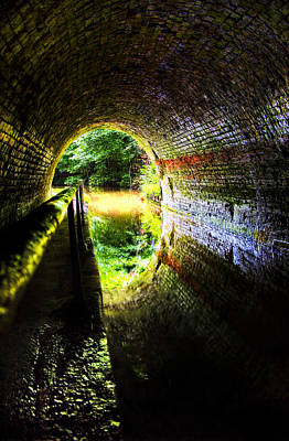 Poster featuring the photograph Light At The End Of The Tunnel by Meirion Matthias