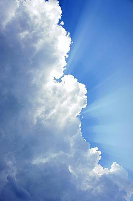 Light Behind The Clouds Poster by Thomas Fouch