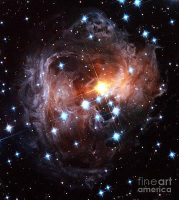 Light Echo Around Star V838 Monocerotis Poster