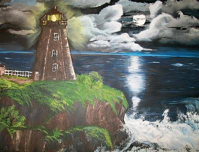Poster featuring the painting Light Of The Moon by Sharon Duguay