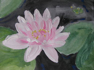 Poster featuring the painting Light Pink Water Lily by Vikram Singh