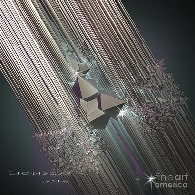 Poster featuring the digital art Light Rays by Melissa Messick