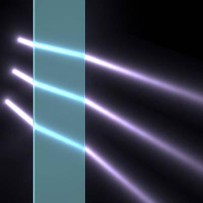 Light Refraction In Glass Block Poster