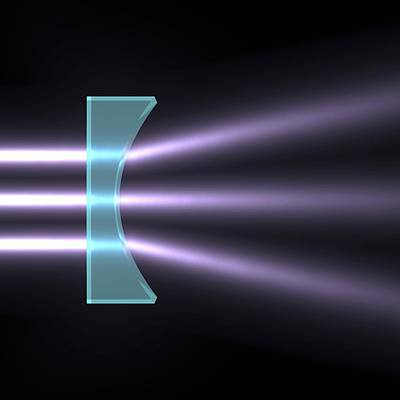 Light Refraction With Plano-concave Lens Poster