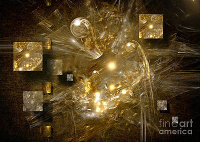 Poster featuring the digital art Light Sheeds by Alexa Szlavics