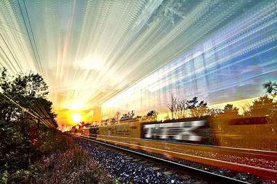 Light Speed Poster by Matt Molloy