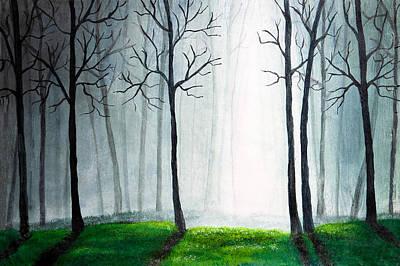 Light Through The Forest Poster by Nirdesha Munasinghe