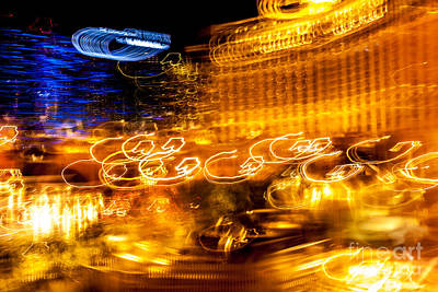 Light Trails Abstract 2 Poster
