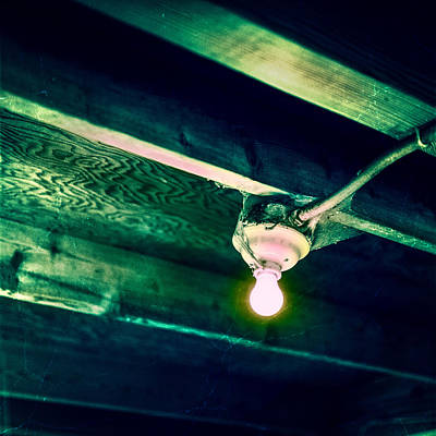 Lightbulb And Cobwebs Poster