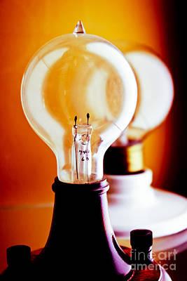 Vintage Light Bulbs Poster