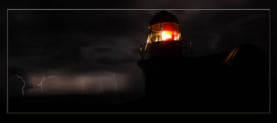 Lighted Lighthouse Poster