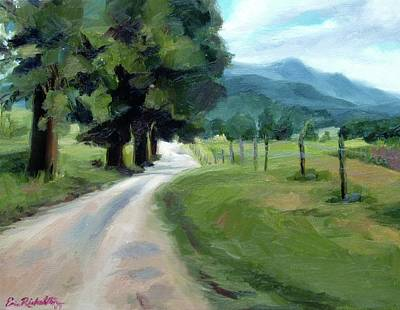 Lighted Path Of Cades Cove Poster
