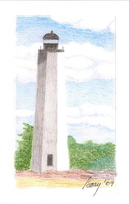 Poster featuring the drawing Lighthouse 1 by Rod Ismay