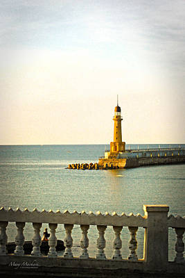 Lighthouse - Alexandria Egypt Poster by Mary Machare