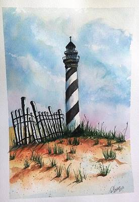 Lighthouse And Fence Poster