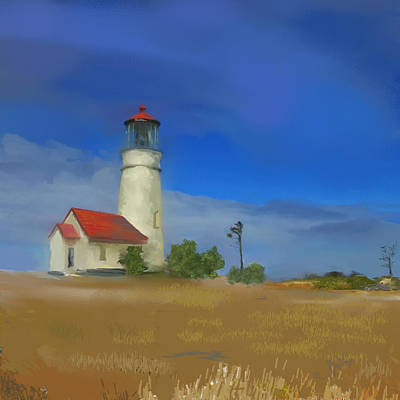 Lighthouse At Cape Blanco Poster