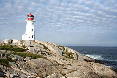 Lighthouse At Peggys Point Nova Scotia Poster