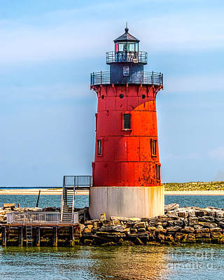 Lighthouse At The Delaware Breakwater Poster