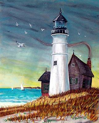Lighthouse Poster by Debbie Baker