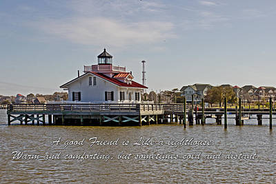 Good Friend At The Roanoke Lighthouse  Poster by Tom Gari Gallery-Three-Photography