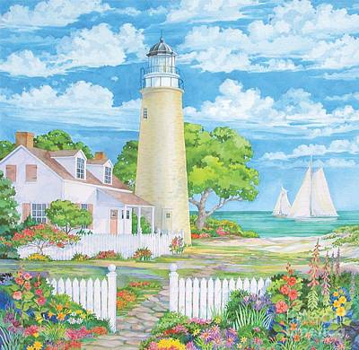 Lighthouse Garden Poster by Paul Brent