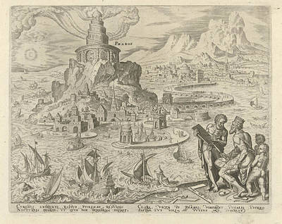 Lighthouse Of Alexandria, Philips Galle, Hadrianus Junius Poster