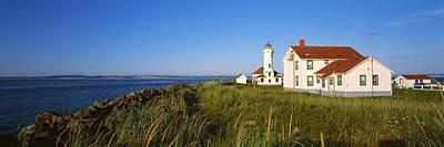 Lighthouse On A Landscape, Ft. Worden Poster