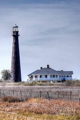 Lighthouse On Bolivar Peninsula Poster