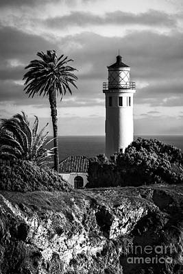 Poster featuring the photograph Lighthouse On The Bluff by Jerry Cowart