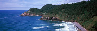 Lighthouse On The Coast, Heceta Head Poster by Panoramic Images