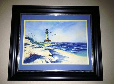 Lighthouse On The Point Sold Poster