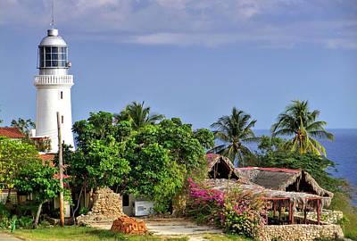Lighthouse Santiago De Cuba Poster by Lynn Bolt