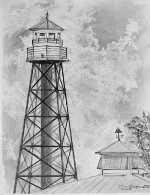 Lighthouse Sumter Landing Poster by Jim Hubbard