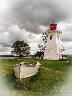Lighthouse Victoria By The Sea Pei Poster by Edward Fielding