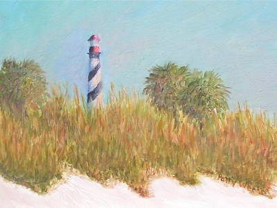 Lighthouse View From St. Augustine Beach Poster