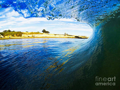 Poster featuring the photograph Lighthouse Wave 1 by Paul Topp