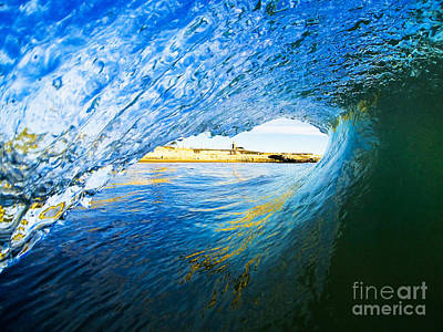 Poster featuring the photograph Lighthouse Wave 2 by Paul Topp