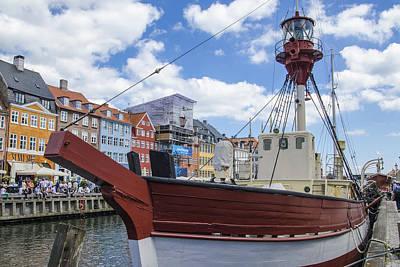 Lighthouse Xvii - Nyhavn - Copenhagen Denmark Poster by Jon Berghoff